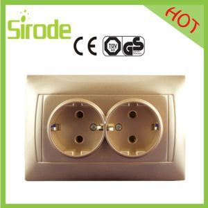 2 Gang Gold Electrical Outlet
