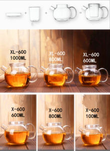 Popular Design in Europe Cold Water Pot Flower Tea Pot pictures & photos