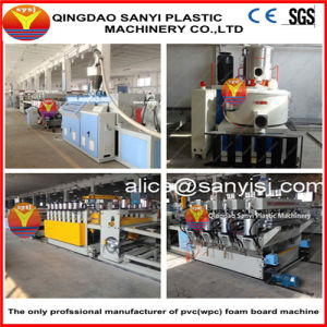 Siemens Cooperated Wood Plastic Composite Board Machinery Manufacture Company pictures & photos
