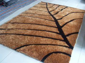 Handmade 1200d Korea Silk Polyester Shaggy Carpet Tianjin pictures & photos