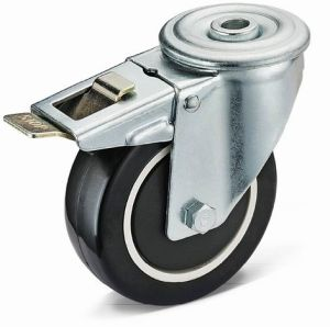 Bolt Hole with Total Brake PU Wheel Caster (13H01B5075.32UPB/13H01B5100.32UPB/13H01B5125.32UPB)
