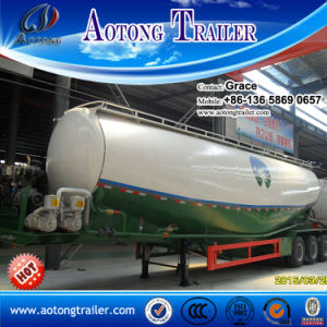 27cbm 30cbm 35cbm 42cbm 60cbm Bulk Cement Tank Semi Trailer with Air Compressor and Diesel Engine pictures & photos