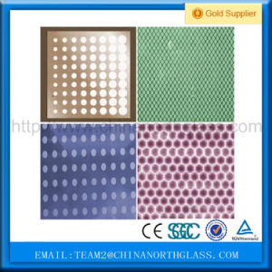 4-8mm Clear and Tinted Building Decorative Acid Etched Glass pictures & photos