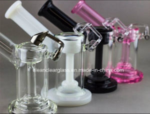 Wholesale Colorful Glass Water Pipe Oil Rig Vapor Rig with Tyre Perc pictures & photos