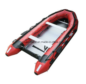 Aqualand 14feet Inflatable Motor Boat/Rubber Rescue Boat/Dinghy (425) pictures & photos