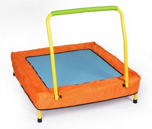 Kid′s Folding Mini Trampoline with Handrail pictures & photos