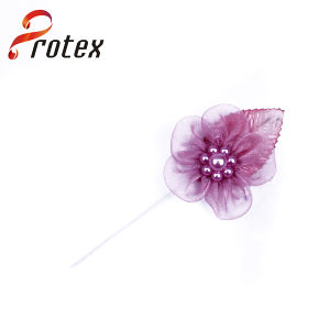 Promotion Organza Ribbon Handmade Flowers for Garment pictures & photos
