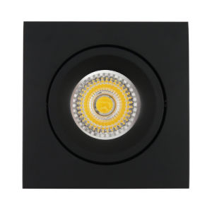 Lathe Aluminum GU10 MR16 Square Tilt Recessed LED Spot Down Light (LT2205B) pictures & photos