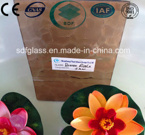 Bronze Ripple Patterned Glass with CE, ISO (3-8mm) pictures & photos