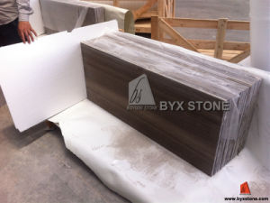 Coffee Brown Wood Marble Tiles for Wall and Floor pictures & photos