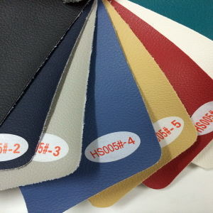 Non Woven Backing PVC Fabric Leather (HS005#) pictures & photos