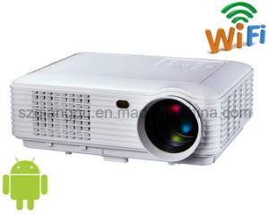 Android 4.4 WiFi 3000lm TV USB HD HDMI Video 3D LED 1080P Projector (SV-228) pictures & photos