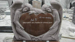 Granite Gravestone with Double Kneeling Angel Carved pictures & photos