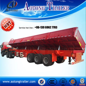 Tri-Axle Stake Type Side Tipper Trailer for Sale pictures & photos