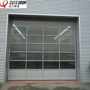 Promotional Customized Full View Aluminum Frame Perspective Glass Panel Garage Door pictures & photos
