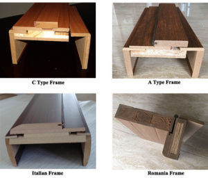 Interior Solid Wood Main Door Design Sc-W112 pictures & photos
