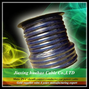 Transparent PVC Sheath Copper Conductor 1/0AWG-16AWG Car Power Cable pictures & photos