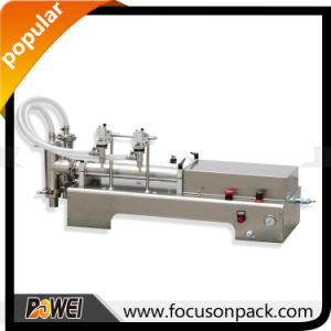 Semi Automatic Table Top Check Valve Liquid Filling Machine pictures & photos