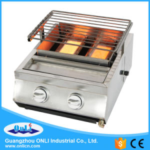 Two Burner Stainless Steel Gas BBQ Grill pictures & photos