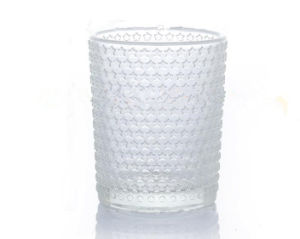 Embossed Glass Tealight Votive Candle Holder/Candle Jar/Candle Cup pictures & photos