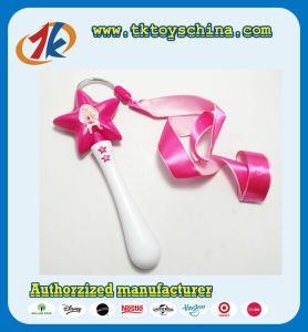 Promotion Star Dance Ribbon Stick Plastic Dance Wand Toy for Kids pictures & photos