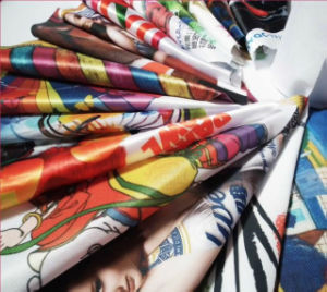 Direct Dye Sublimation Textile Satin Fabric pictures & photos