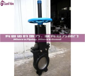 Uni-Directional Knife Gate Valve Pn10 Flange Wafer Type pictures & photos