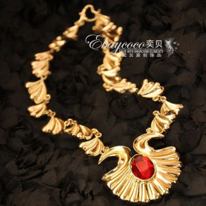 New Fashion Hot Selling Asos Style Zinc Alloy Seashells Wave Necklace with Stone (MJ-SDP8744)