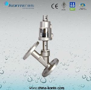 Stainless Steel Flanged Angle Seat Valve pictures & photos