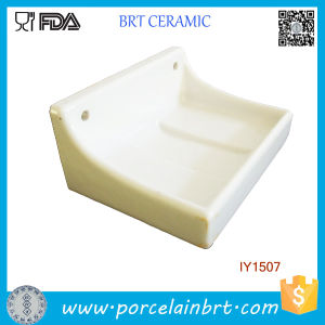 Wholesale Simple Rectangle Ceramic Hanging Soap Holder pictures & photos