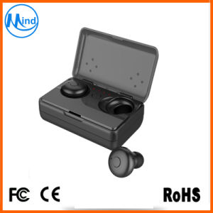 Black Color Popular 3 Hours Talking Playing Time True Wireless Headphone Earpiece with Charging Case pictures & photos