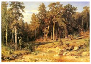 Famous Artists Oil Painting, Art Painting, Masterpiece Oil Painting, Pine Forest (1872 years) --Ivan Shishkin pictures & photos