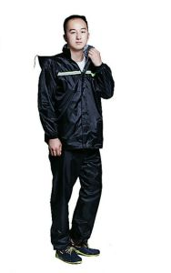Military Polyester PVC PU Coating Waterproof Raincoat pictures & photos