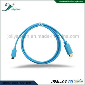 USB3.1 C Male to Micro 5p Male Cable PVC Head No Braided Sleeve pictures & photos