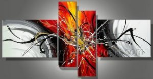 Handmade Abstract Oil Painting on Canvas Home Decoration (XD4-191) pictures & photos