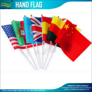 Cheap Promotion Country Paper Polyester PE PVC Hand Flag (SC-NF01F02016) pictures & photos