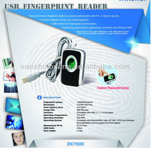Fingerprint Reader with USB (ZK7500) pictures & photos