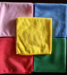 Soft Microfiber Color Coded Cleaning Cloth (YYMC-250) pictures & photos