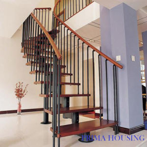 Interior Straight Staircase (PR-L13) pictures & photos