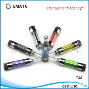 Fast Delivery High Quality No Leaking No Burn Taste EGO Thread T3s Clearomizer (T3S)