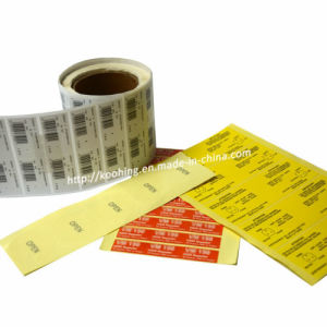 Custom Print Self-Adhesive Sticker and Barcode pictures & photos