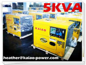 Silent Diesel Generator Set/Single Phase 4.5kw with CE pictures & photos