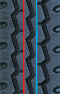 Precured Tread Rubber for Tire Retreading-Pattern F