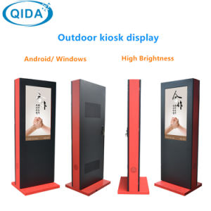 55 Inch Floor Standing Outdoor Touch Screen Kiosk for Outdoor LCD Advertising