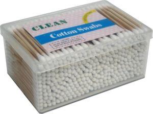 300PCS Plastic Square Box PVC Stick Swabs Pure Cotton Buds pictures & photos