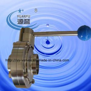 SMS Weld Butterfly Valve for Food Industry pictures & photos