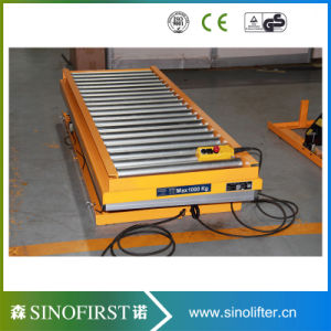 2m 1ton Double Scissor Roller Conveyor Lift Tables pictures & photos