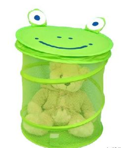 Cartoon Mesh Laundry Bag of Frog Style