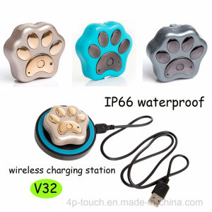 Wireless Charging Pet GPS Tracker with Waterproof IP66 pictures & photos