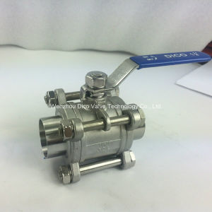 Sanitary Stainless Steel 3PC Ball Valve with Butt Weld End pictures & photos